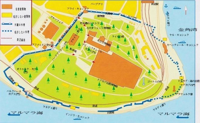 トプカプ宮殿周辺の図