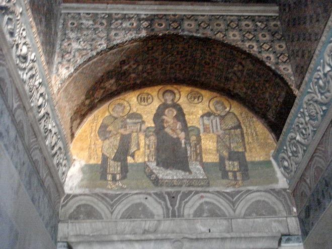 聖母子とユスティニアヌス1世、コンスタンティヌス1世