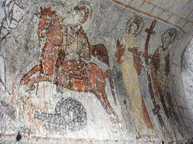 蛇の教会フレスコ画