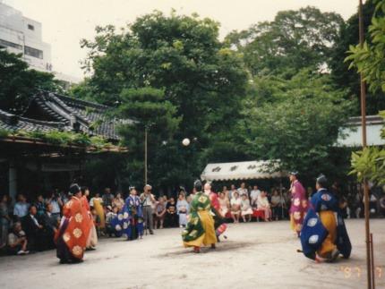 白峯神宮蹴鞠