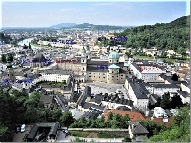 ザルツブルク城からの眺望