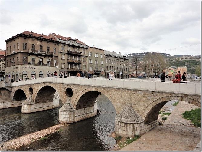 ラテン橋とサラエヴォ博物館