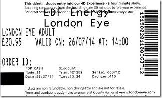ロンドンアイ・チケット2